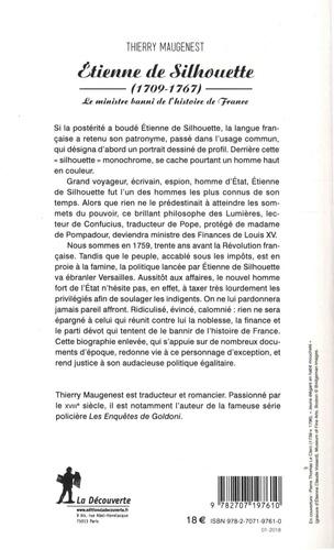 Etienne de Silhouette (1709-1767). Le ministre banni de l'histoire de France
