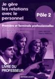 Thierry Mercou et Haïm Arouh - Je gère les relations avec le personnel 1e et Tle Bac Pro Gestion-Administration Pôle 2 - Livre du professeur.
