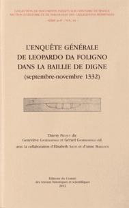 Thierry Pécout et Geneviève Giordanengo - L'enquête générale de Leopardo da Foligno dans la baillie de Digne (septembre-novembre 1332).