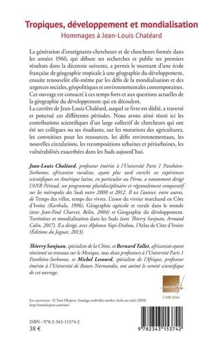 Tropiques, développement et mondialisation. Hommages à Jean-Louis Chaléard