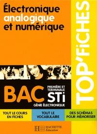 Electronique, analogique et numérique, Bac STI génie électronique - Thierry Suaton |