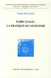 Thomas Benatouil - Faire usage : la pratique du stoïcisme.