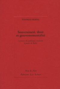 Thomas Berns - Souveraineté, droit et gouvernementalité - Lectures du politique à partir de Bodin.