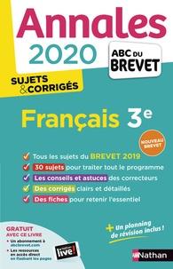 Ebooks zip téléchargement gratuit Français 3e  - Sujets & corrigés (French Edition) 9782091574530