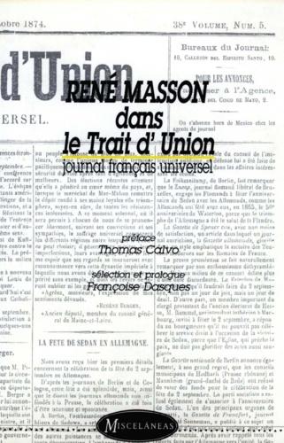 René Masson dans le Trait d'Union. Journal français universel