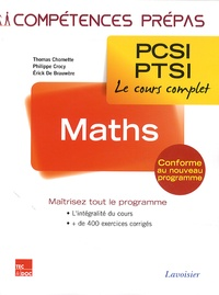 Thomas Chomette et Philippe Crocy - Maths 1re année PCSI-PTSI.