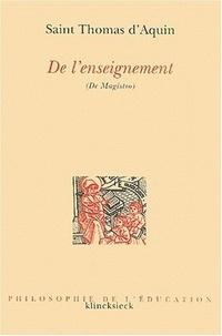 Thomas d'Aquin - De l'enseignement (De magistro).