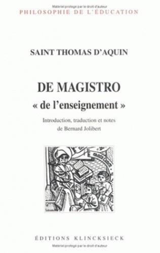 Thomas d'Aquin - De magistro.