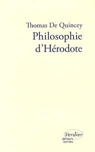 Thomas de Quincey - Philosophie d'Hérodote.
