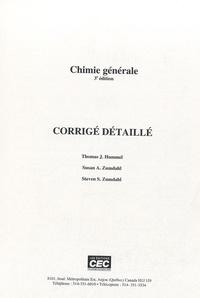 Thomas-J Hummel et Steven-S Zumdahl - Chimie générale - Corrigé détaillé.