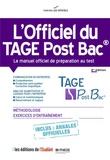 Thomas Leblé et François Pannetier - L'officiel du TAGE Post Bac - Manuel officiel de préparation au test.