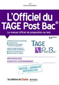 Livres audio téléchargeables gratuitement sans virus L'officiel du TAGE Post Bac  - Manuel officiel de préparation au test