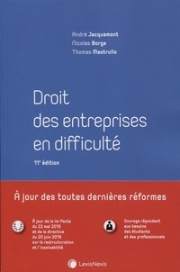 Thomas Mastrullo et Nicolas Borga - Droit des entreprises en difficulté.