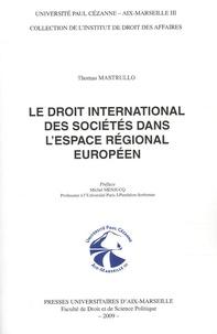 Accentsonline.fr Le droit international des sociétés dans l'espace régional européen Image