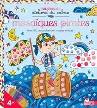 Thomas et  Solenne - Mosaïques pirates - Avec 900 autocollants en mousse et strass ! Contient 1 planche de strass, 12 planches de mosaïques.