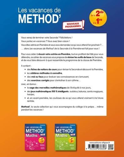 Mathématiques de la seconde à la première Les vacances de Méthod'  Edition 2020