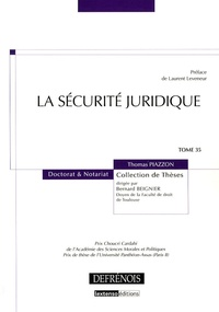 Thomas Piazzon - La sécurité juridique.
