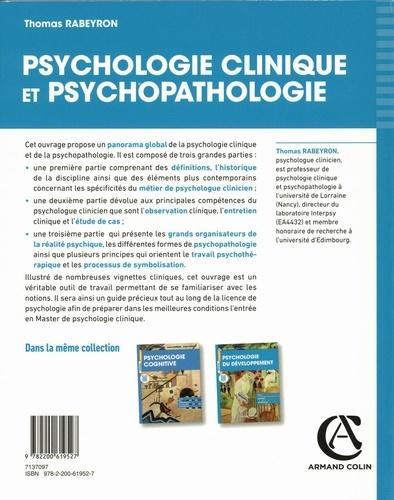 Psychologie clinique et psychopathologie. Cours, exemples cliniques, entraînement