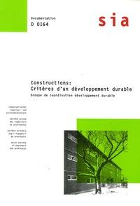 Thomas Schneider - Constructions : critéres d'un développement durable - Aspects et critères d'évaluation dans la construction des logements.