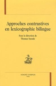 Thomas Szende - Approches contrastives en lexicographie bilingue.