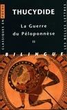 Thucydide - La Guerre du Péloponnèse - Tome 2, Livres III, IV, V, édition bilingue français-grec.