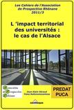 Tiana Rafanomezantsoa et Jean-Alain Héraud - L'impact territorial des universités : le cas de l'Alsace - Rapport APR-PREDAT-PUCA.