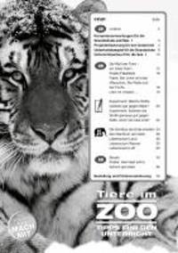Tiere im ZOO - Tipps für den Unterricht.