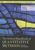 Todd Little - The Oxford Handbook of Quantitative Methods - Volume 1, Foundations.