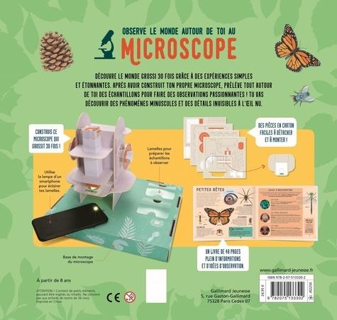 Observe le monde autour de toi au microscope. Avec 1 microscope, des lentilles et des lamelles