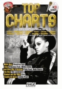 Top Charts 63 mit Playback CD - Die größten Stars, die aktuellsten Hits und das Beste aus den Charts: Mein Herz - Stay - Just Give Me A Reason - Ho Hey - Einmal um die Welt - Castle Of Glass.