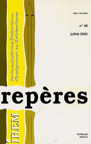 Anne Crouzier et Anne Boyé - Repères - IREM N° 48, Juillet 2002 : .
