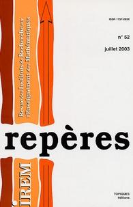 Louis-Marie Bonneval et Claudine Vergne - Repères - IREM N° 52 : .