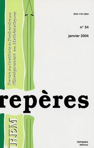 Stéphane Faes et Gérard Dumont - Repères - IREM N° 54, Janvier 2004 : .