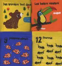 Tourbillon - La ronde des animaux - 4 livres-tissu.
