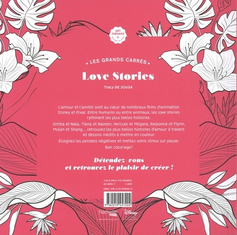 Les grand carrés Love stories. 45 coloriages anti-stress