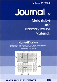 D-L Beke - Journal of Metastable and Nanocrystalline Materials N° 19, 2004 : Nanodiffusion - Diffusion in Nanostructured Materials.