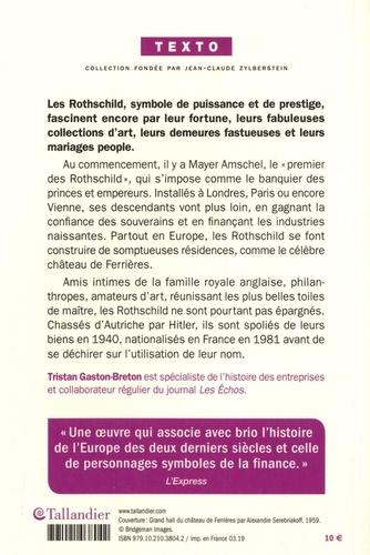 La saga des Rothschild. L'argent, le pouvoir et le luxe
