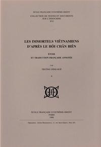 Truong Dinh-Hue - Les Immortels vietnamiens d'après le Hoi Chan Bien.