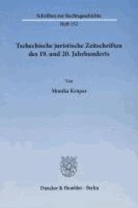 Tschechische juristische Zeitschriften des 19. und 20. Jahrhunderts.