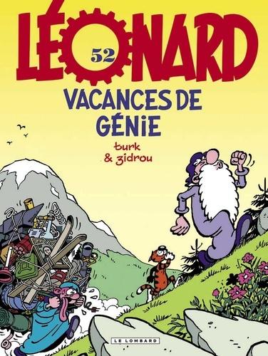 Turk et  Zidrou - Léonard Tome 52 : Vacances de génie.