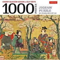 Tuttle - Cherry Blossom Season in Old Tokyo Jigsaw Puzzle - 1000 pieces.
