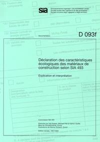 Deedr.fr Déclaration des caractéristiques écologiques des matériaux de construction selon SIA 493 - Explication et interprétation Image