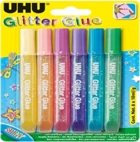 UHU - Glitter Glue Shiny 6x10 ml Young Créativ