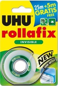 UHU - RDC Rollafix Invisible dévidoir 25mx19mm + 5m gratuits Collector