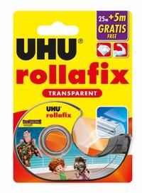 UHU - Rollafix transparent avec dévidoir - 25m + 5m gratuits