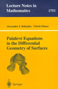 Deedr.fr Painlevé Equations in the Differential Geometry of Surfaces Image