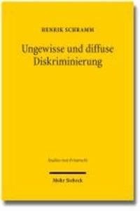 Ungewisse und diffuse Diskriminierung - Gründe privater Willenserklärungen vor den Diskriminierungsverboten des AGG.