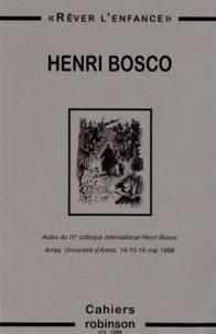 "Christian Morzewski - Cahiers Robinson N° 4/1998 : Henri Bosco : ""Rêver l'enfance""."