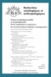 Marie-Blanche Tahon - Recherches sociologiques et anthropologiques Volume 41 N° 2, 2010 : Penser la pluriparentalité et la pluriparenté - Droit, nomination et expériences des transformations familiales contemporaines.