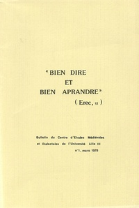 Derville - Bien Dire et Bien Aprandre N° 1 : .